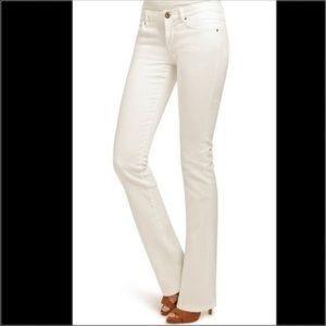 CAbi White Bootcut Jean Style #753R Size 2